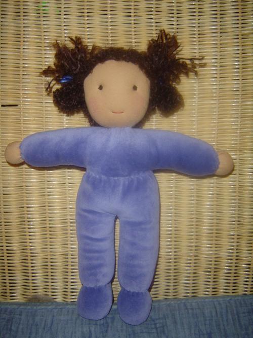 Blue Velour doll