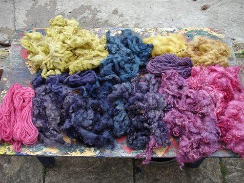 More dyed fleece