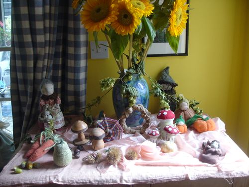 September - autumn table